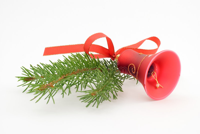 dzwonkowi boże narodzenia jeden czerwień zdjęcie stock