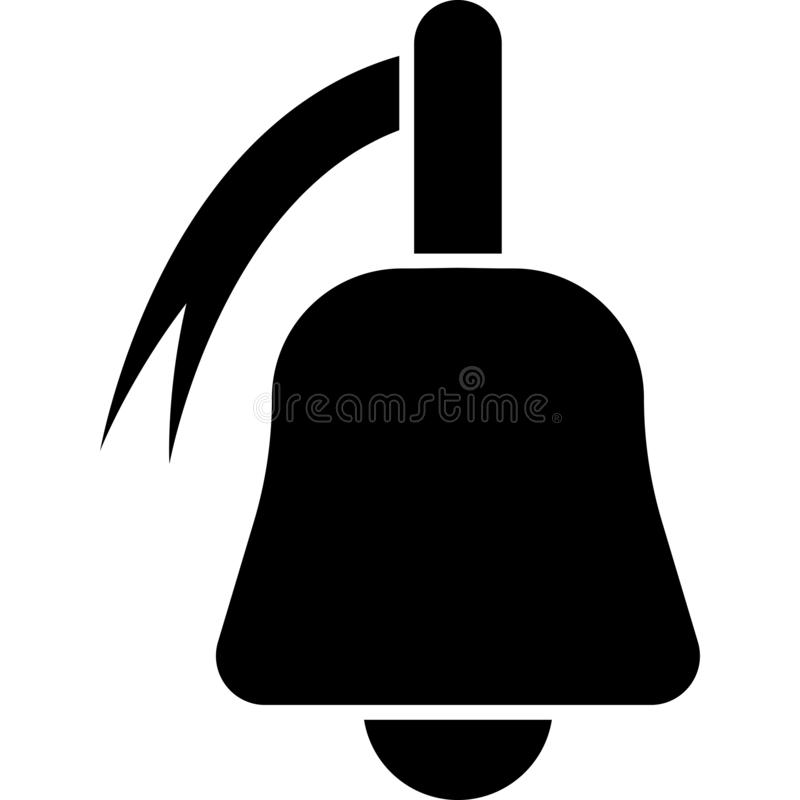 Dzwonkowy ikona wektor royalty ilustracja