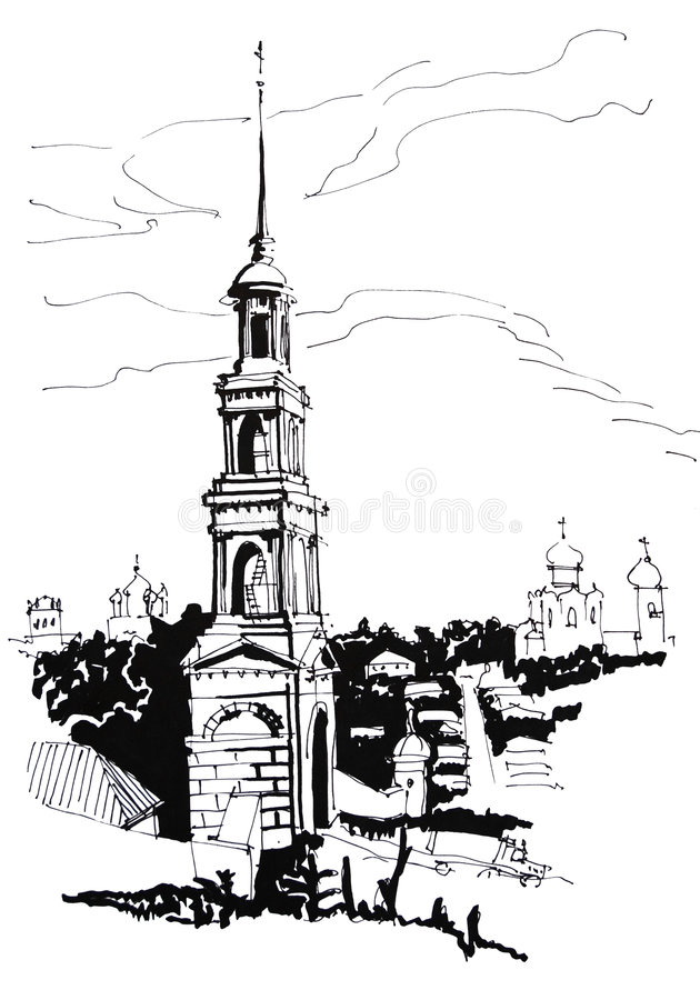 dzwonkowy wierza ilustracji