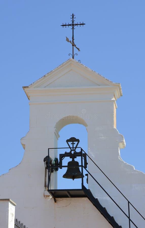 Dzwonkowy wierza na monasterze St Michael, Lliria, Hiszpania zdjęcia royalty free