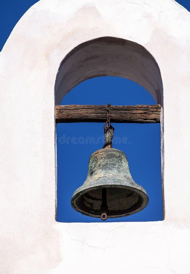 Dzwonkowy wierza San Xavier Del Bac Misja zdjęcie stock