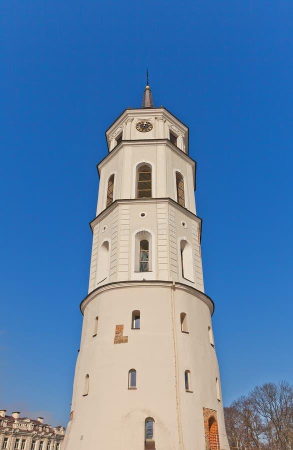 Dzwonkowy wierza St. Stanislov katedra. (XVIII c.) Vilnius obrazy stock