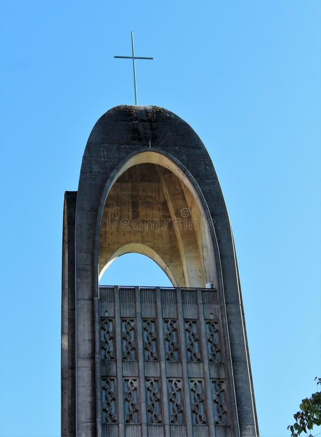 Dzwonkowy wierza szczegóły - opactwo abbey misja BC zdjęcie royalty free