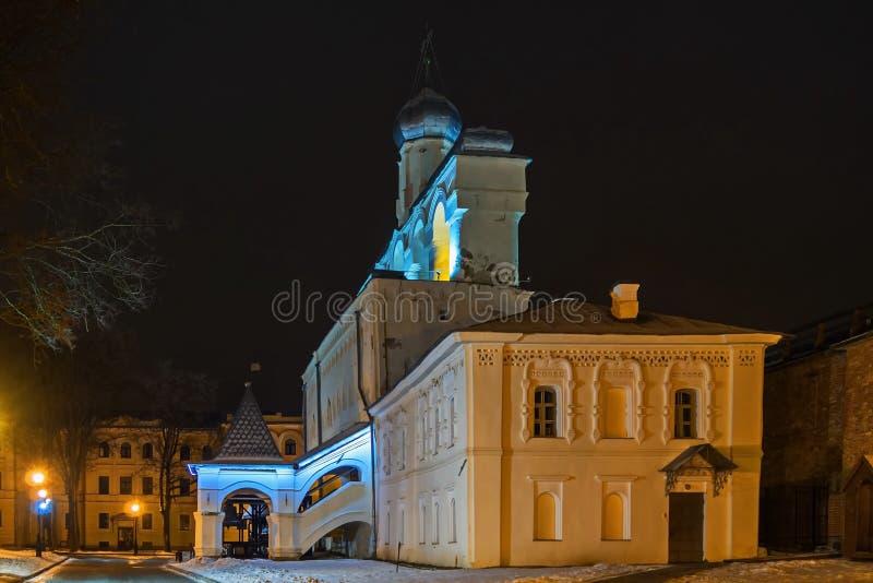 Dzwonkowy wierza Veliky Novgorod Detinets obrazy royalty free