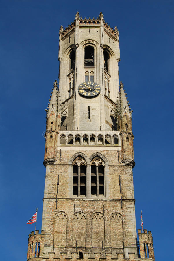 Dzwonnica Basztowy Bruges obraz stock