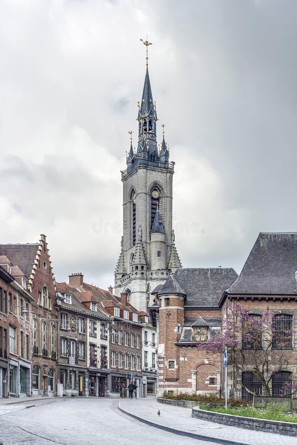 Dzwonnica (francuz: beffroi) Tournai, Belgia obrazy stock