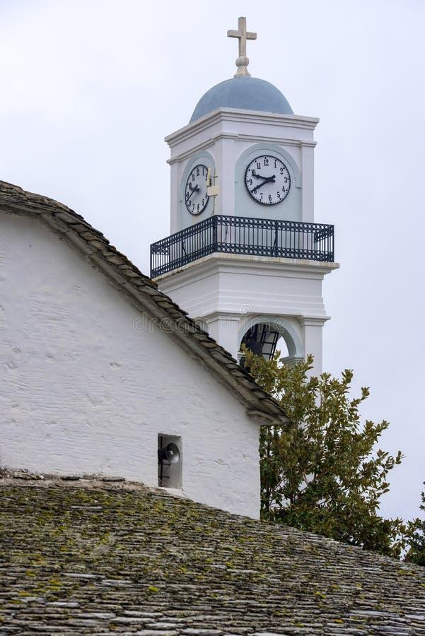 Dzwonnica grecki Chrześcijański Ortodoksalny kościół Pelion góra, Mi obraz royalty free