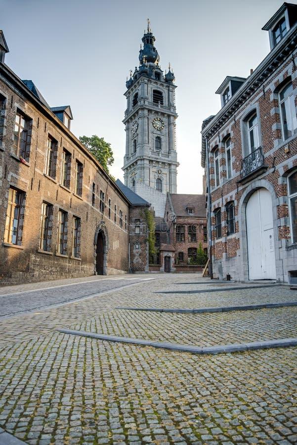 Dzwonnica Mons w Belgia. obraz stock