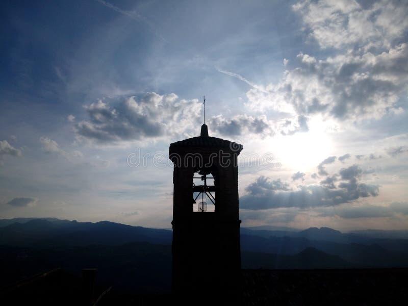 Dzwonnica San Marino Italia zdjęcia stock