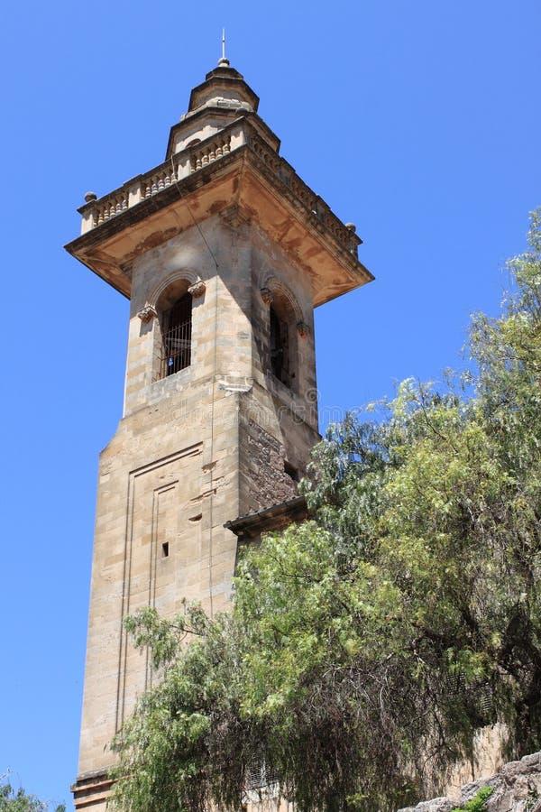 Dzwonnica St Bartholomew kościół w Valldemossa zdjęcie royalty free