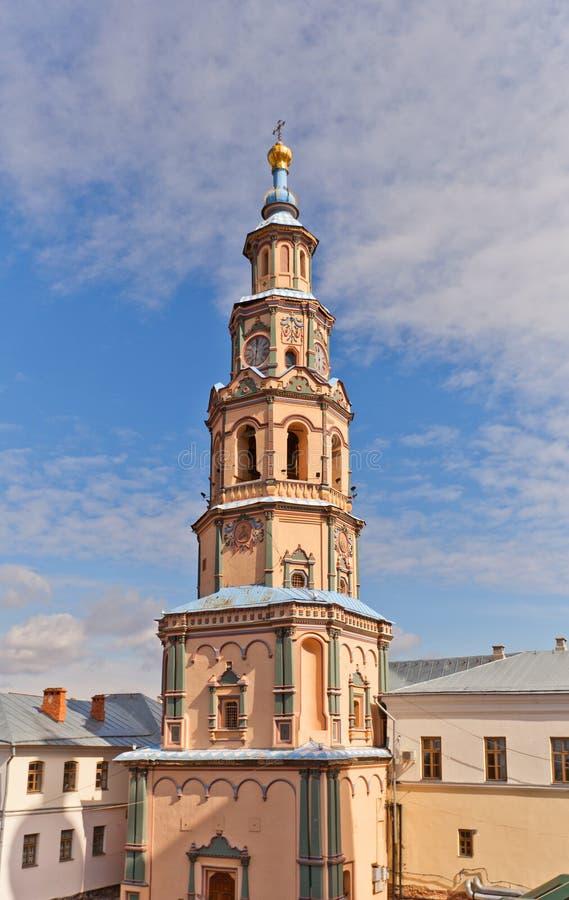 Dzwonnica St Peter i Paul katedra w Kazan, Rosja (1726) fotografia royalty free