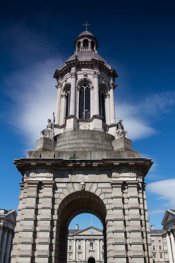 Dzwonnica zabytek, trójcy szkoła wyższa Dublin zdjęcia royalty free