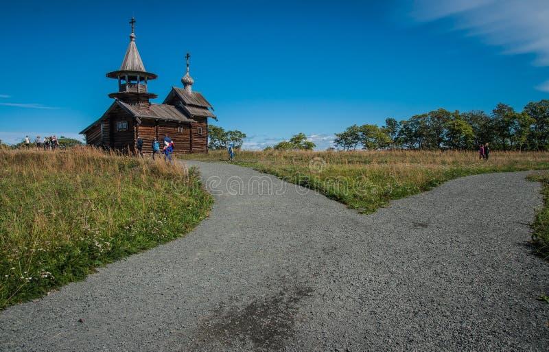 Dzwonnicy, dziejowego i architektonicznego muzeum w Kizhi, Karelia obraz royalty free
