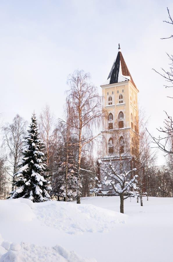 dzwonnicy kościelny lappeenranta Mary święty zdjęcie royalty free