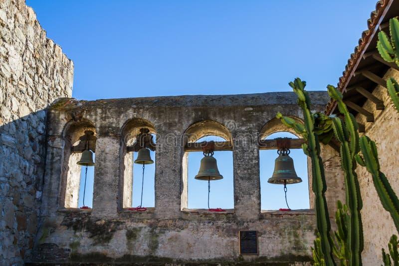 Dzwony misja San Juan Capistrano zdjęcie stock