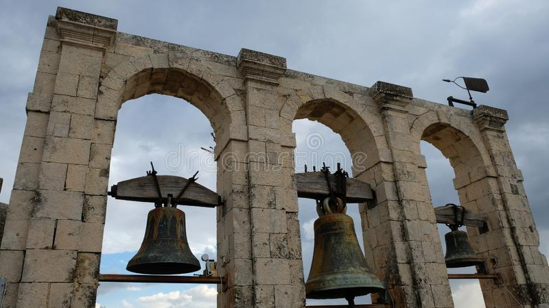 Dzwony San Carlo kościół zdjęcie stock