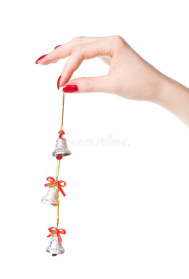 dzwony wręczają małej kobiety fotografia stock