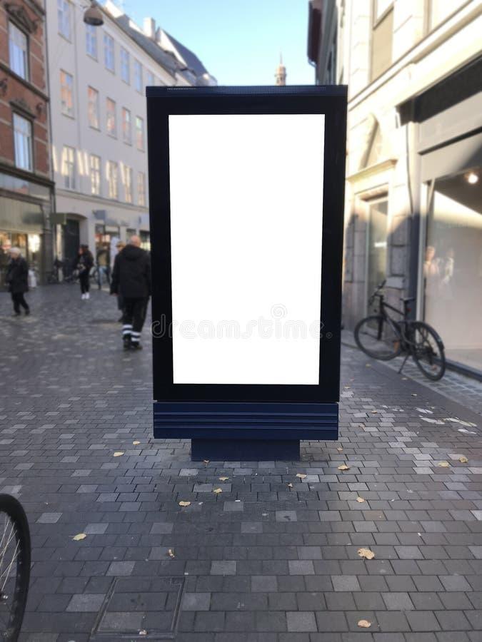 Eén blanco billboard in Kopenhagen royalty-vrije stock foto