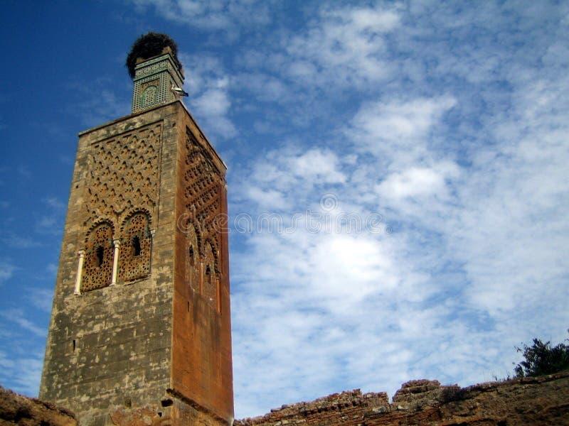 Eñas del ¼ de con nido de cigà del minarete de Antiguo fotos de archivo