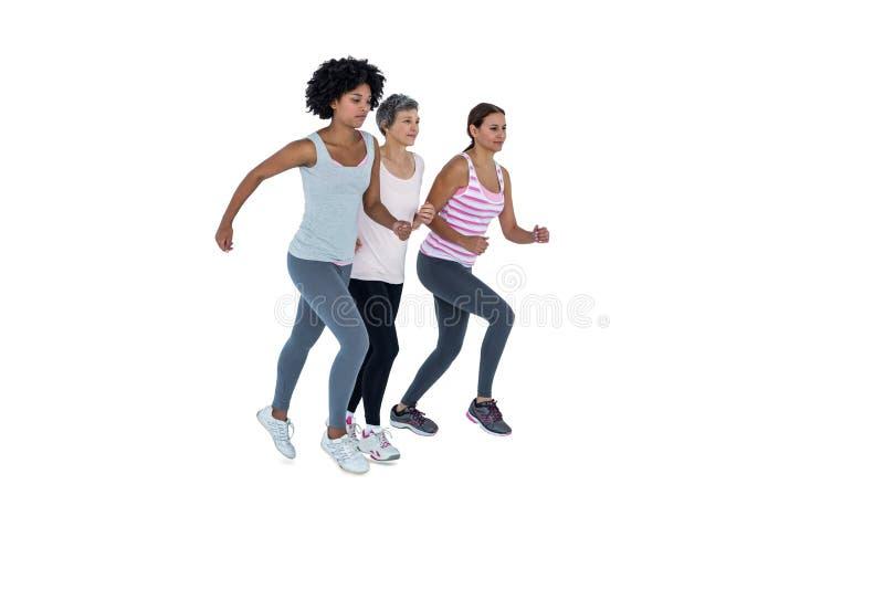Żeńscy przyjaciele jogging zdjęcia royalty free