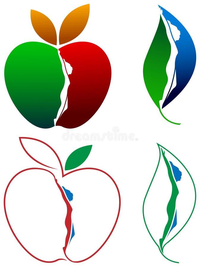Żeńscy zdrowie logowie ilustracja wektor