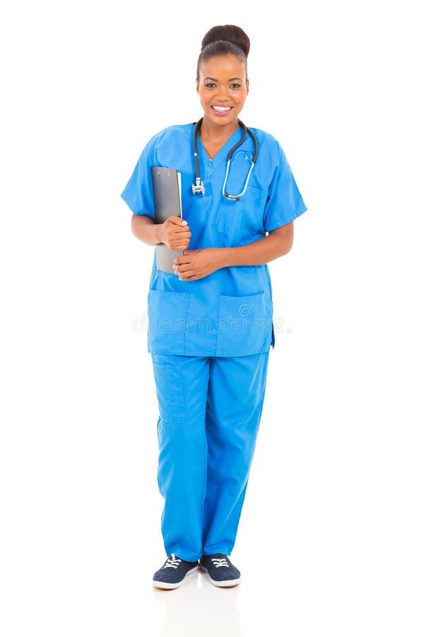 Żeńska afrykańska pielęgniarka zdjęcia royalty free