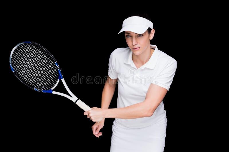 Żeńska atleta bawić się tenisa obraz royalty free
