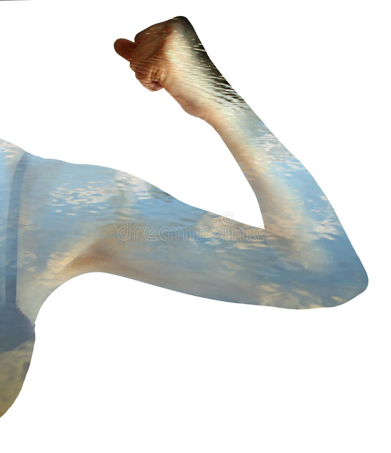 Żeńska ręka podwójny narażenia fotografia stock