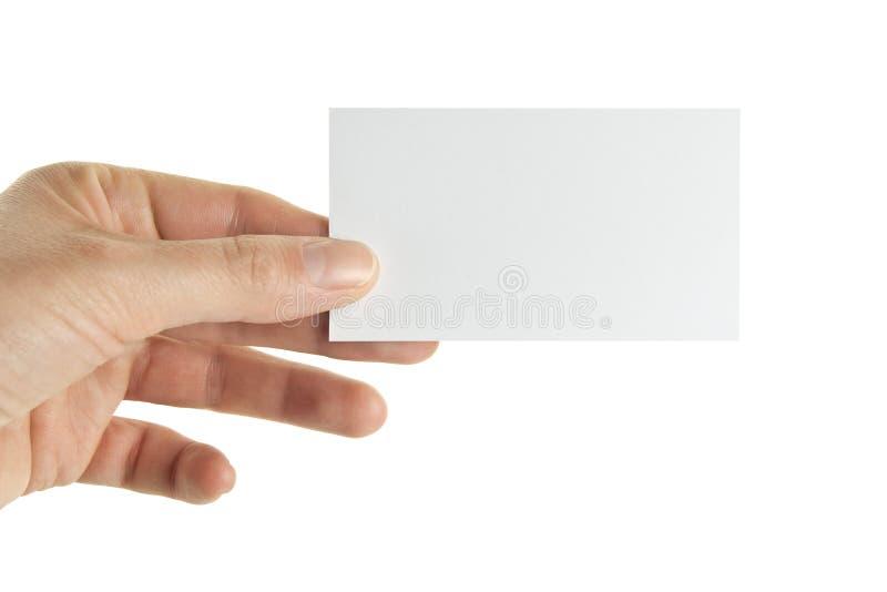 Ręki mienia wizytówka obrazy stock