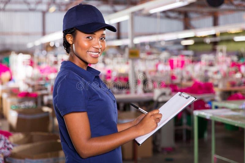 Żeński afrykański pracownik obraz stock