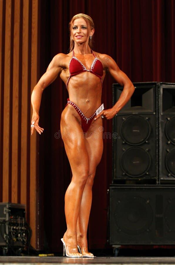 Żeński bodybuilder obraz stock