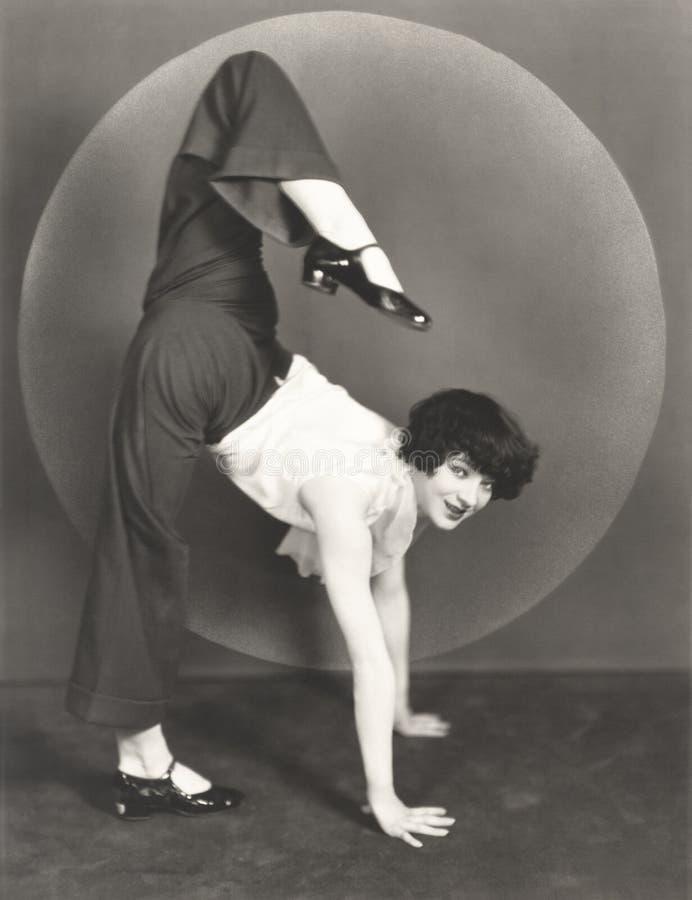 Żeński contortionist fotografia stock