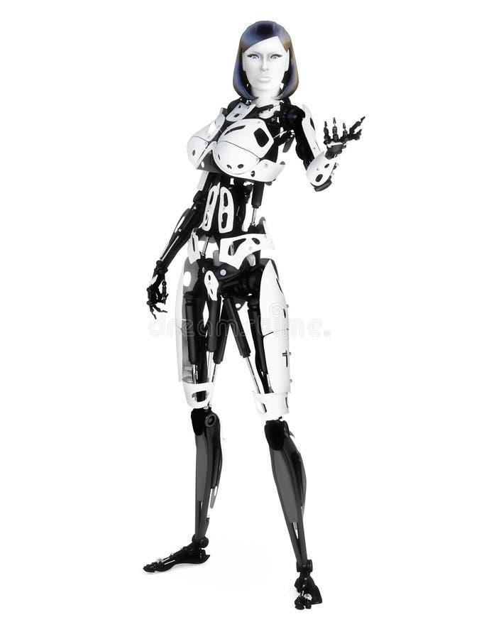 Żeński cyber robot ilustracji