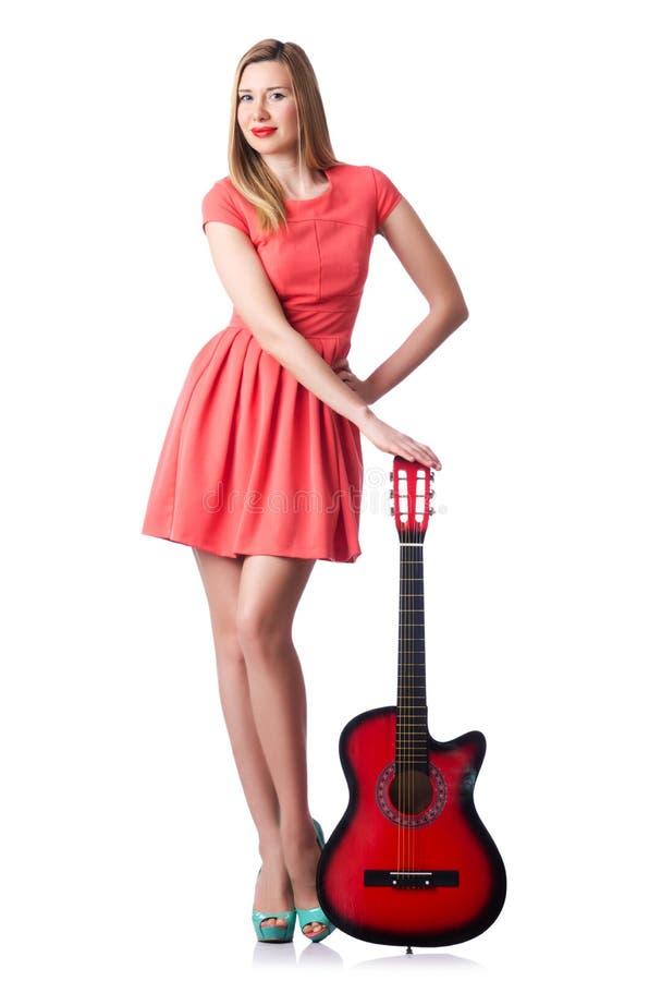 Żeńska Gitara Zdjęcia Stock