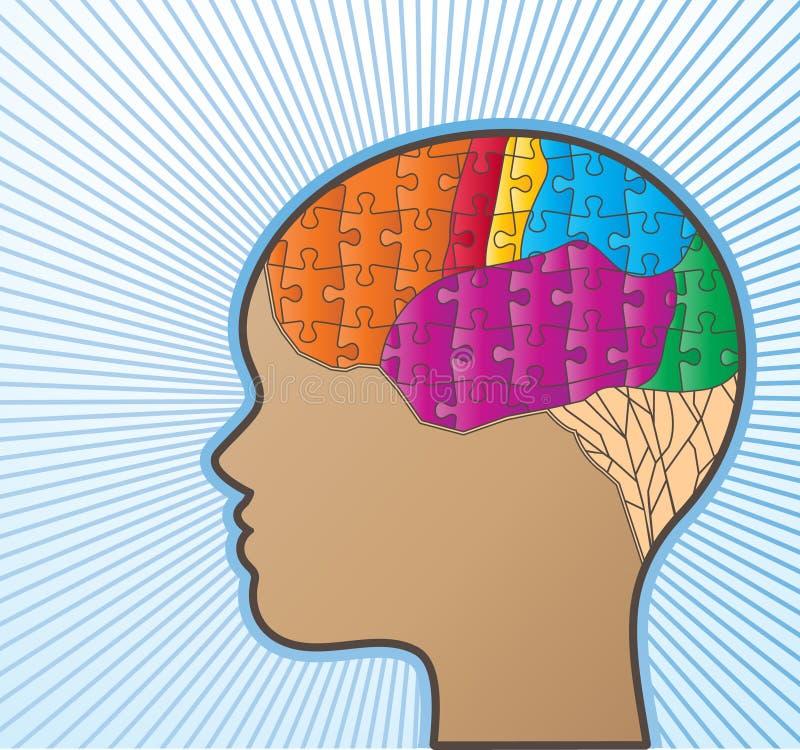 Żeński mózg ilustracji