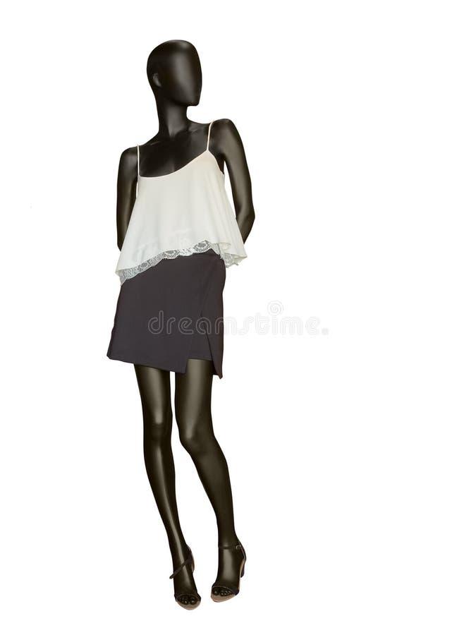 Żeński mannequin ubierający w spódnicie i wierzchołku obrazy stock