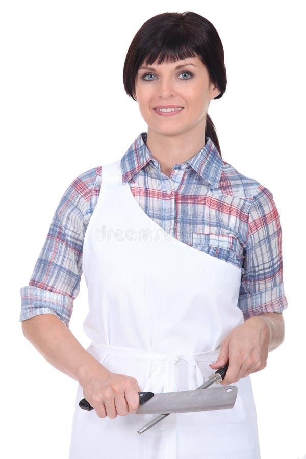 Żeński szef kuchni obrazy royalty free