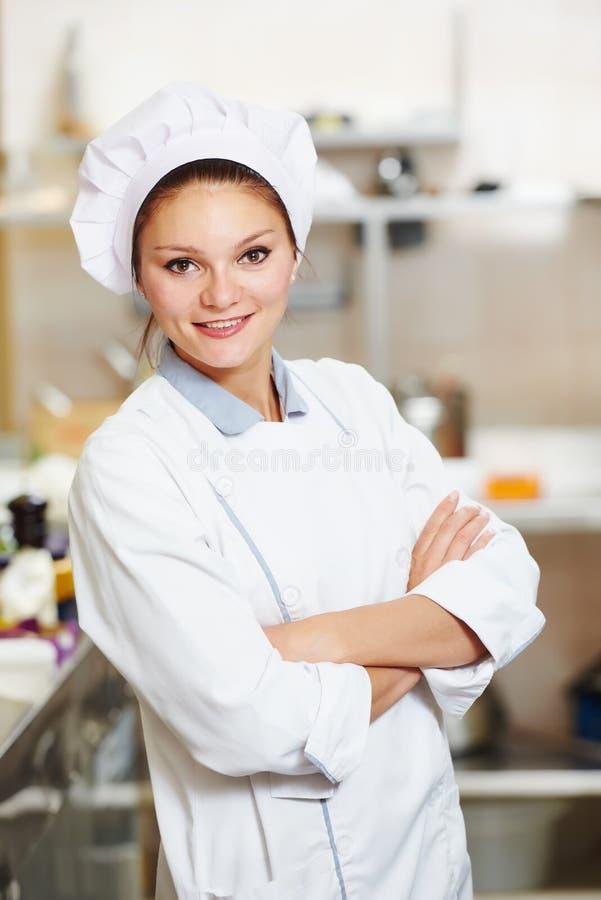 Żeński szefa kuchni kucharz zdjęcia royalty free