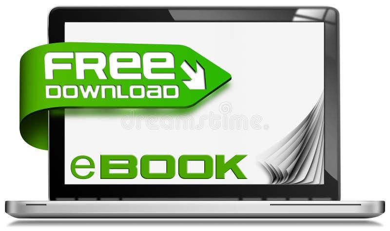 E书免费下载-便携式计算机 向量例证
