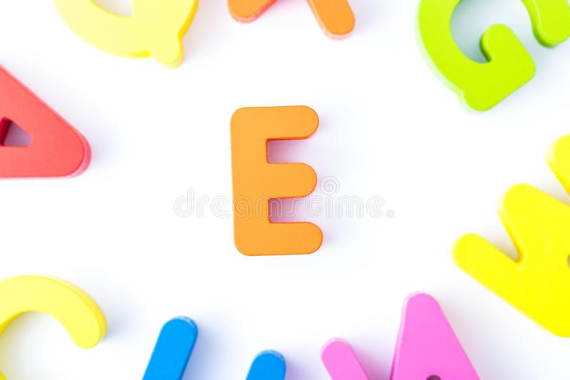 E信件用英语 免版税库存照片