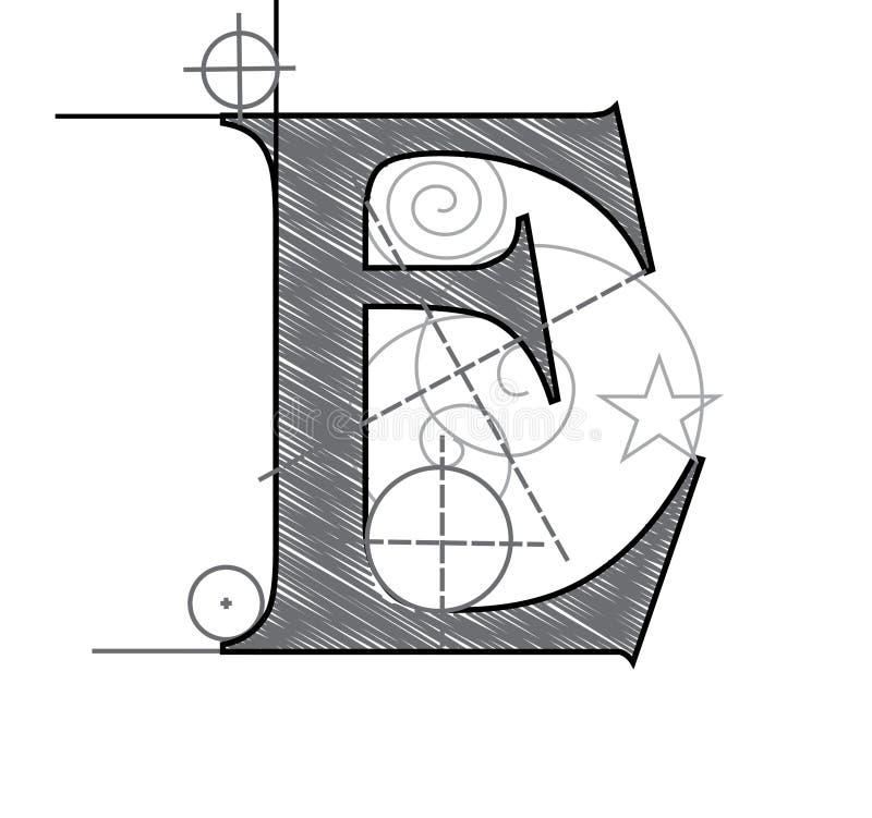 e信函 向量例证