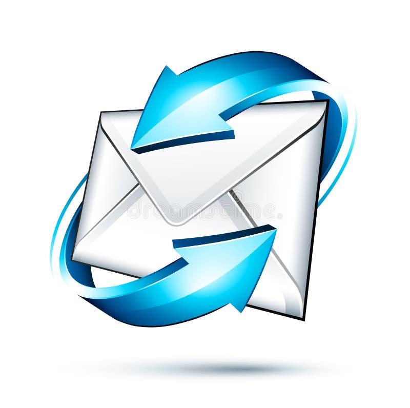 e图标邮件 库存例证