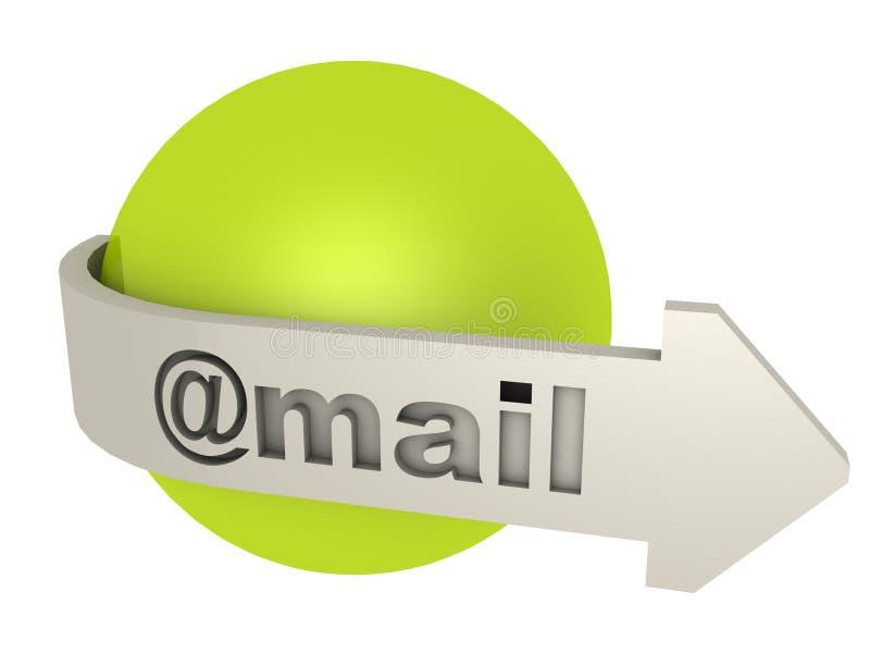 e图标邮件 向量例证