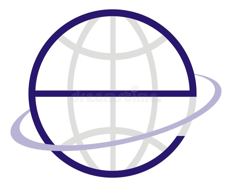 e地球徽标 皇族释放例证