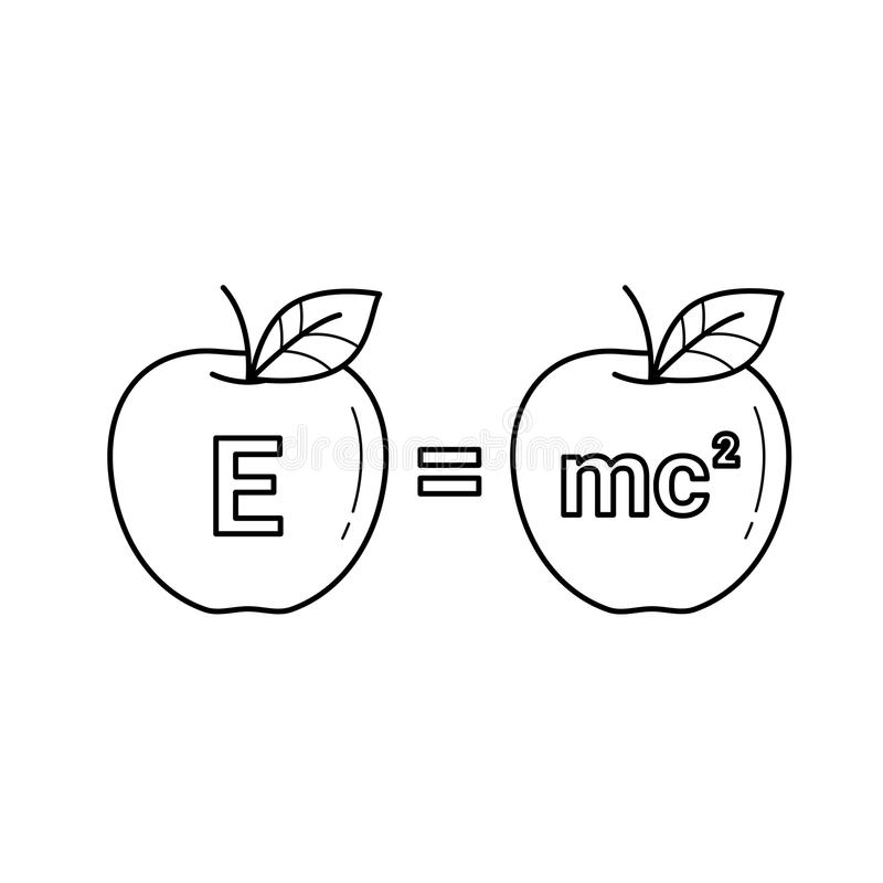 E均等mc 2传染媒介线象 皇族释放例证