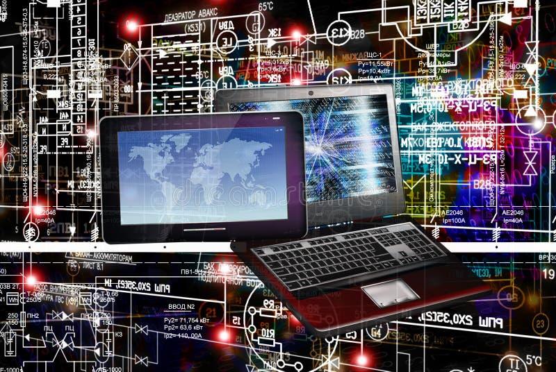 E连接工程学技术 图库摄影