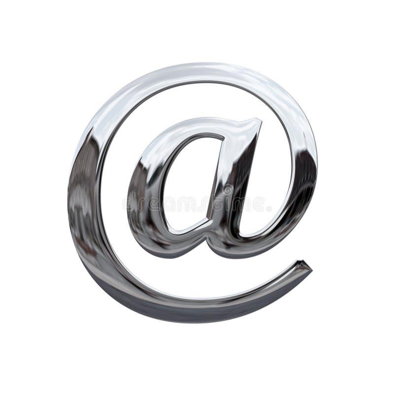 e邮件符号 皇族释放例证