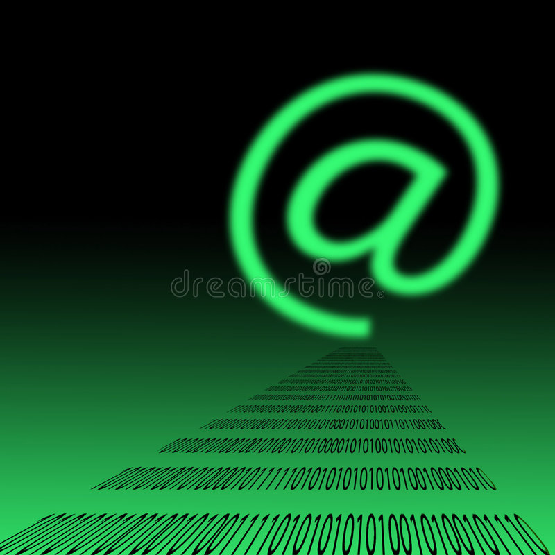 E邮件符号 免版税图库摄影