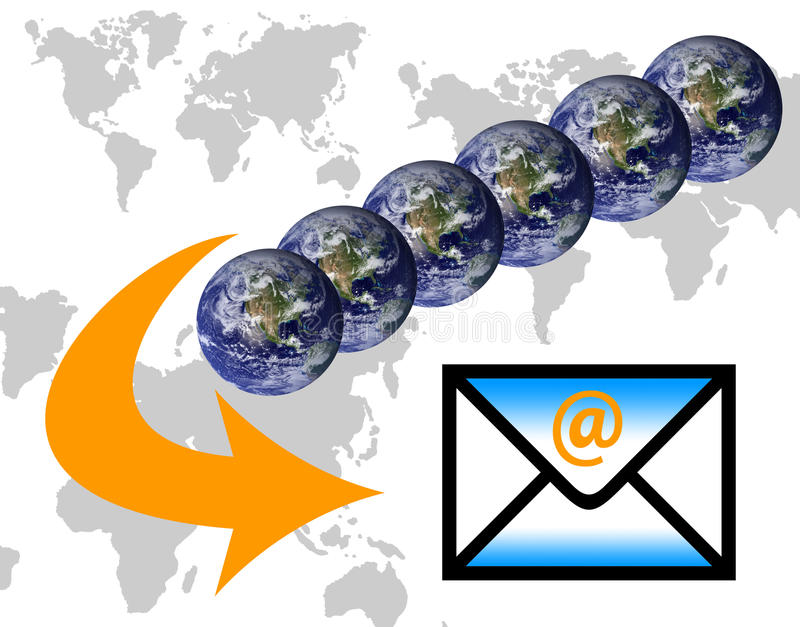 e邮件 向量例证