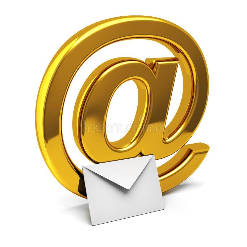 e邮件 皇族释放例证